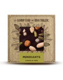TABLETTE DE CHOCOLAT NOIR - MENDIANTS - 80G - LE COMPTOIR DE MATHILDE