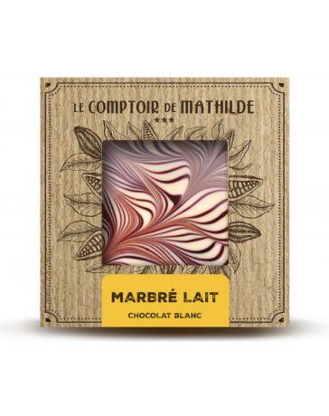 TABLETTE DE CHOCOLAT BLANC - MARBRE - 80G - LE COMPTOIR DE MATHILDE