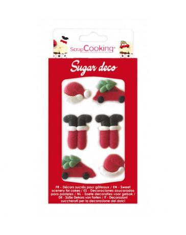 Décoration sucrée pour gâteaux - Père Noël - SCRAPCOOKING