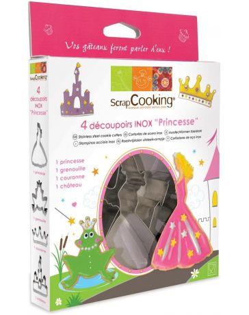 "Kit 4 Emporte-pièces ""PRINCESSE"" - SCRAPCOOKING"