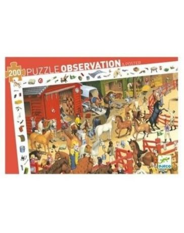 EQUITATION - PUZZLE D'OBSERVATION - DJECO