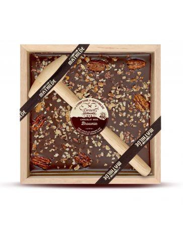 CHOCOLAT À CASSER - CHOCOLAT NOIR FACON BROWNIES - LE COMPTOIR DE MATHILDE
