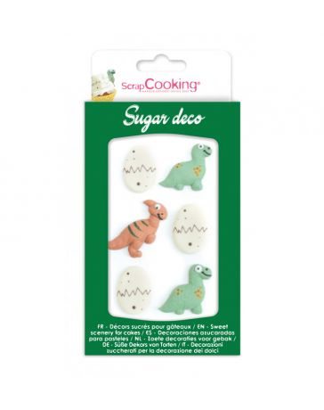 Décorations sucrées pour gâteau - DINOSAURES - SCRAPCOOKING