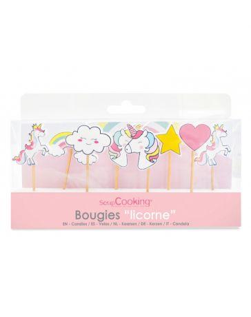 8 Bougies Licorne - SCRAPCOOKING