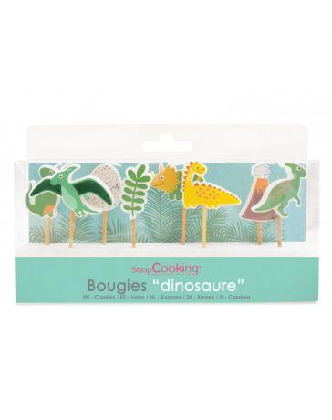 8 Bougies Dinosaure - SCRAPCOOKING