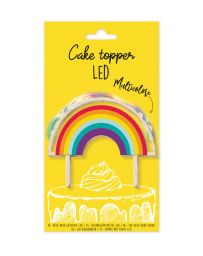 """CAKE TOPPER LED """"RAINBOW"""" - SCRAPCOOKING"""