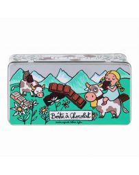 Boîte à Chocolat - Tablettes Alpes - DERRIERE LA PORTE