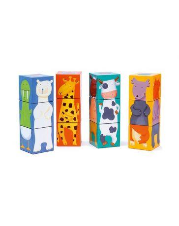 12 Cubes - Animaux couleurs - DJECO