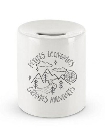 Tirelire en céramique - Petites économies Grandes aventures - Créabisontine - LABEL TOUR