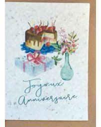 Carte à planter - Joyeux Anniversaire Gâteau - LES CARTES DE LULU