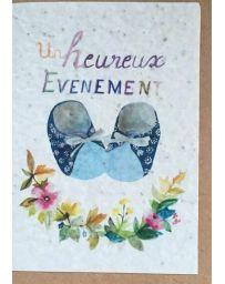 Carte à planter - Heureux évènement bleu - LES CARTES DE LULU