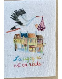 Carte à planter - La Cigogne est en route - LES CARTES DE LULU
