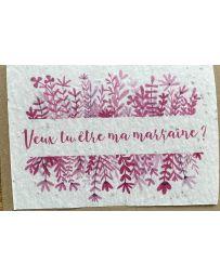 Carte à planter - Veux-tu être ma Marraine ? - LES CARTES DE LULU