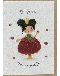 Carte à planter - Madame Fraise - LES CARTES DE LULU