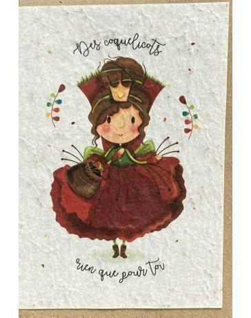 Carte à planter - Madame Coquelicot - LES CARTES DE LULU