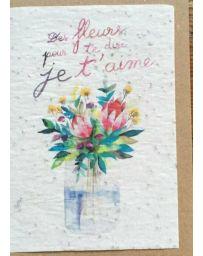 Carte à planter - Des fleurs pour te dire je t'aime - LES CARTES DE LULU