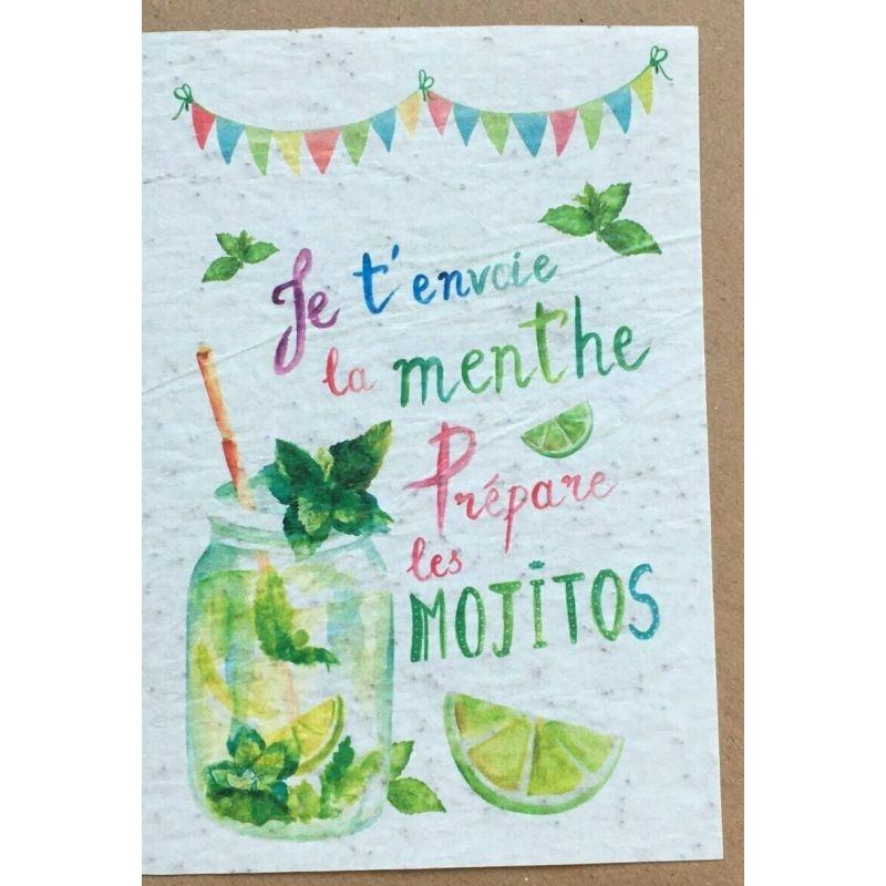 Carte à planter - Mojito - LES CARTES DE LULU