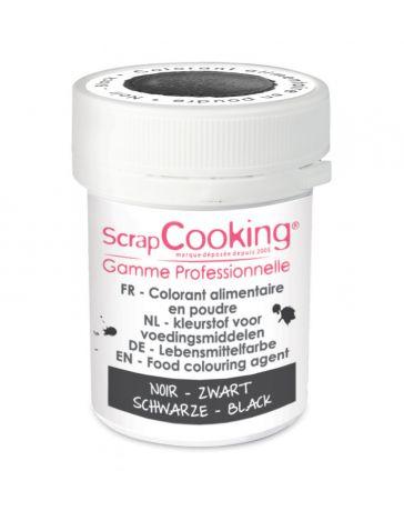 Colorant alimentaire en poudre- noir - 5g - SCRAPCOOKING