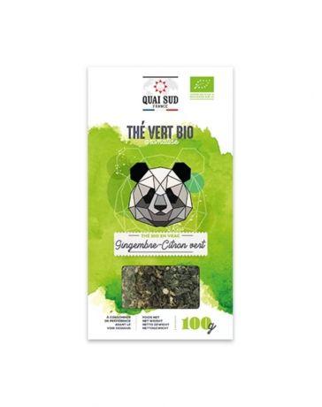 Thé Noir BIO aromatisé au gingembre & au citron vert - Boîte carton 100g - QUAI SUD