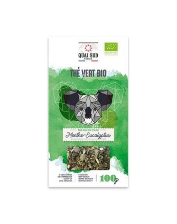 Thé Vert BIO aromatisé à la Menthe & à l'Eucalyptus - Boîte carton 100g - QUAI SUD