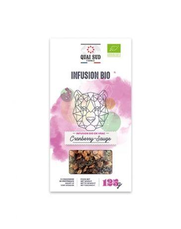 Infusion BIO Cranberry & Sauge - Boîte carton 125g - QUAI SUD