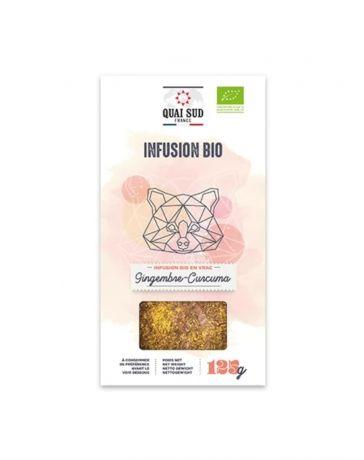Infusion BIO Gingembre & Curcuma - Boîte carton 125g - QUAI SUD