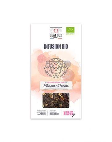 Infusion BIO Hibiscus & Pomme - Boîte en carton 125g - QUAI SUD