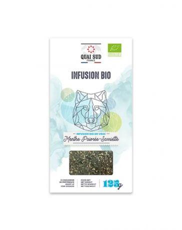 Infusion BIO Menthe poivrée & Sarriette - Boîte carton 125g - QUAI SUD