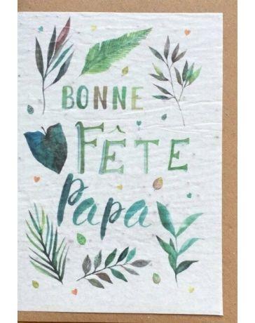 Carte à planter - Bonne fête Papa - LES CARTES DE LULU