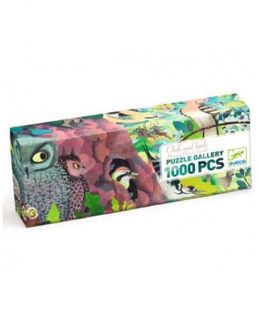 OWLS AND BIRDS - PUZZLE GALLERY - 1000 PCS - DJECO
