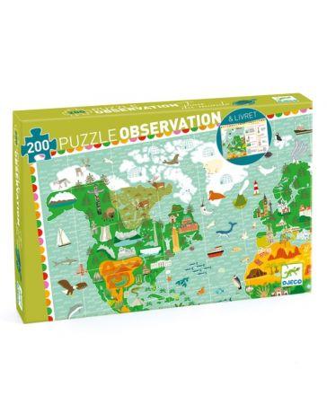 TOUR DU MONDE - PUZZLE D'OBSERVATION - DJECO