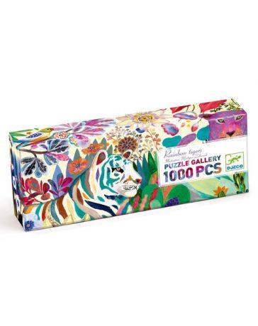 RAINBOW TIGERS - Puzzle Gallery 1000 Pièces - DJECO
