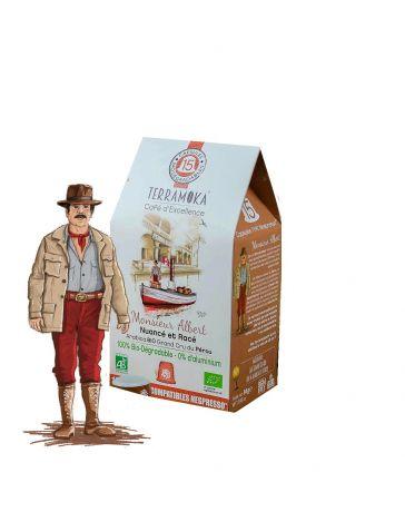 Monsieur Albert Café Bio 15 Capsules Biodégradables pour Nespresso® - NESPRESSO
