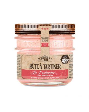 Pâte à tartiner - La Pralinaise à la praline rose - 250g - LE COMPTOIR DE MATHILDE