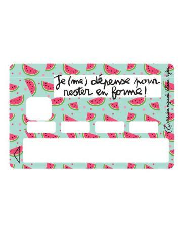 Sticker Carte Bancaire - Je (me) dépense pour rester en forme