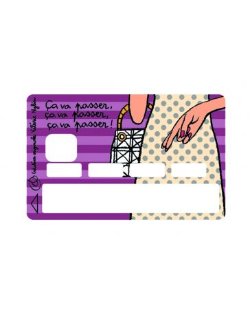 Sticker Carte Bancaire - ça va passer, ça va passer