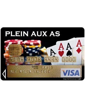 Sticker Carte Bancaire - Plein aux As