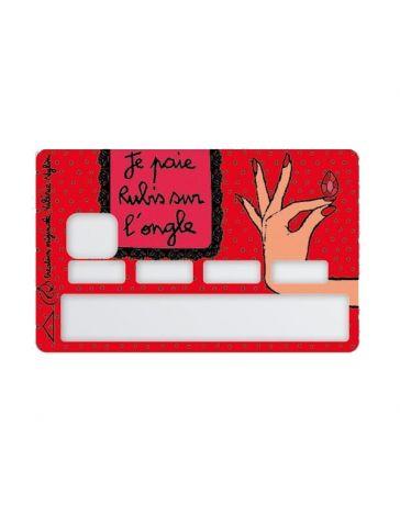 Sticker Carte Bancaire - Je paie Rubis son l'ongle