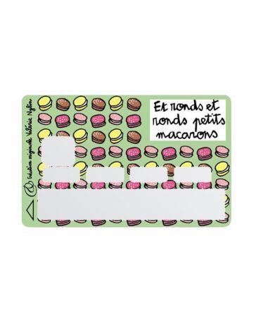 Sticker Carte Bancaire - Et ronds et ronds petits macarons