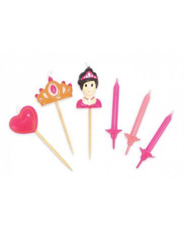 """Set 12 bougies + 3 bougies """"Princesse"""" - SCRAPCOOKING"""