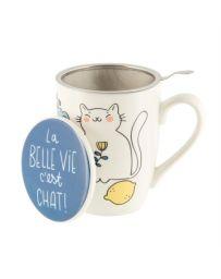 Tisanière TUDOR (+filtre) - La belle vie c'est chat - DERRIERE LA PORTE