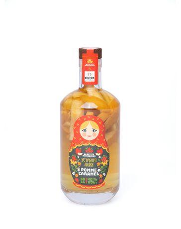 LA PETITE MATRIOCHKA - BOISSON SPIRITUEUSE à base de vodka à 40% vol. + 150 g de de pommes et une pointe de caramel - QUAI SUD