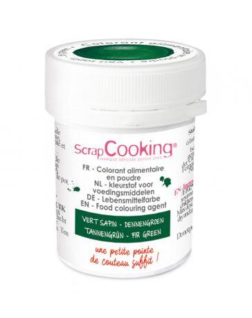 Colorant alimentaire en poudre - Vert Sapin - 5g - SCRAPCOOKING