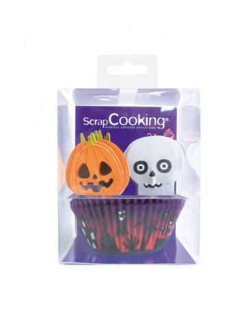 24 Caissettes + 24 Toppers Halloween - SCRAPCOOKING