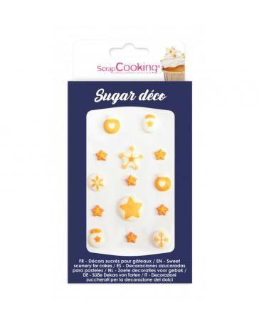 Décorations sucrées pour gâteaux - Déco dorée - SCRAPCOOKING