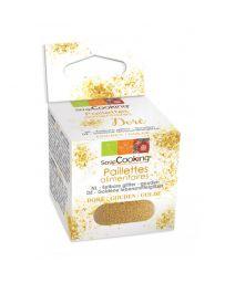Paillettes alimentaires dorées - 5g - SCRAPCOOKING