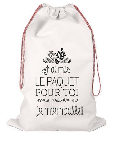 Hotte de Noël - Grand sac de rangement - J'ai mis le paquet pour toi, mais peut-être que je m'emballe - LABEL TOUR