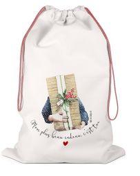 Hotte de Noël - Grand sac de rangement - Mon plus beau cadeau c'est toi - LABEL TOUR