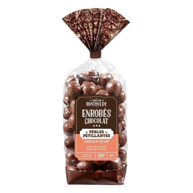 Perles pétillantes au chocolat au lait - Sachet de 200g - LE COMPTOIR DE MATHILDE