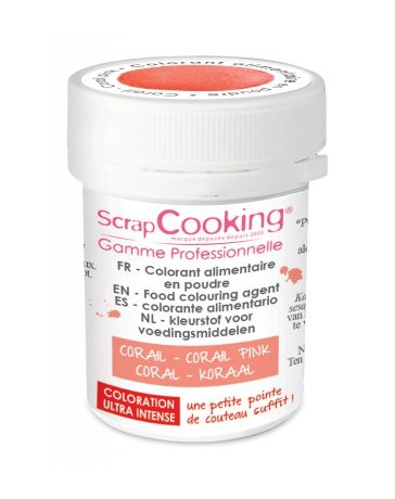 Colorant alimentaire en poudre - corail - 5g - SCRAPCOOKING